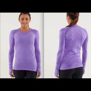 Lululemon chevron swiftly top long sleeves(435)